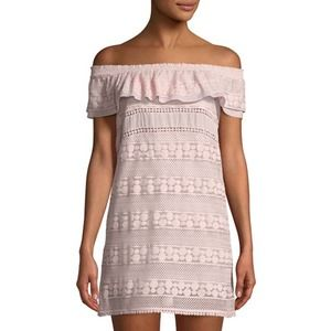 Kisuii Ania Off-the-Shoulder Lace Coverup Tunic S